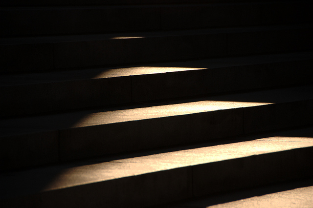 light on steps